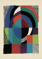 Sonia DELAUNAY | Cathedrale | Lithograph available for sale on www.kunzt.gallery