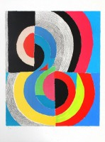 Sonia DELAUNAY | Plougastel | Lithograph available for sale on www.kunzt.gallery