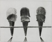 Thiebaud WAYNE | Double Deckers | Drypoint available for sale on www.kunzt.gallery