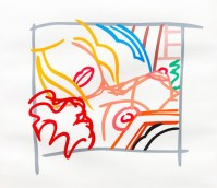 Tom WESSELMANN | Bedroom blonde doodle with photo | Screen-print available for sale on www.kunzt.gallery