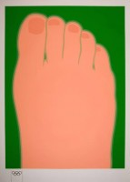 Tom Wesselmann | Big foot | Screen-print available for sale on www.kunzt.gallery