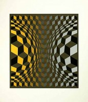 Victor VASARELY | Gordes Cheyt OND | Screen-print available for sale on www.kunzt.gallery