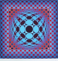 Victor VASARELY | Hang | Silkscreen available for sale on www.kunzt.gallery