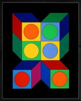 Victor VASARELY | Motiv VIII | Serigraph available for sale on www.kunzt.gallery