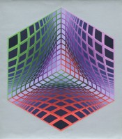 Victor VASARELY | Test Tarka | Screen-print available for sale on www.kunzt.gallery