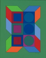 Victor VASARELY | XLV | Silkscreen available for sale on www.kunzt.gallery