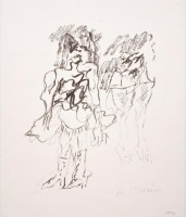 Willem DE KOONING | Two Women | Lithograph available for sale on www.kunzt.gallery