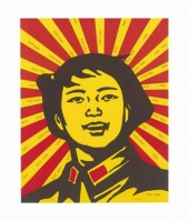 Wang GUANGYI | Face of the believer | Lithograph available for sale on www.kunzt.gallery