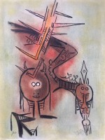 Wifredo LAM | Belle Epine, from Pleni Luna | Lithograph available for sale on www.kunzt.gallery