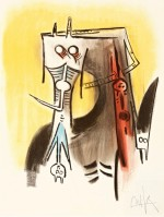 Wifredo LAM | Le regard vertical #1 | Lithograph available for sale on www.kunzt.gallery