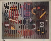 Yaacov AGAM | PS Out of Dark | Lithograph available for sale on www.kunzt.gallery