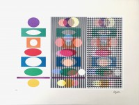 Yaacov AGAM | Inter Image | Silkscreen available for sale on www.kunzt.gallery