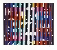 Yaacov AGAM | Night rainbow | Silkscreen available for sale on www.kunzt.gallery