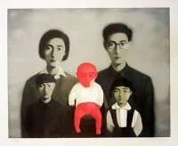 Zhang XIAOGANG | Big Family | Lithograph available for sale on www.kunzt.gallery