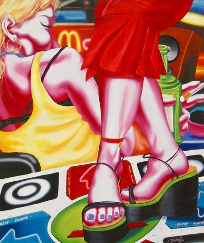 Zhao Bo | Lovely Life No. 1 | Oil on canvas available for sale on www.kunzt.gallery