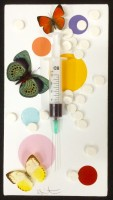 Damien Hirst | Fun | Mixed Media available for sale on www.kunzt.gallery