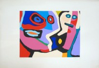 Karel APPEL | Composition | Silkscreen available for sale on www.kunzt.gallery